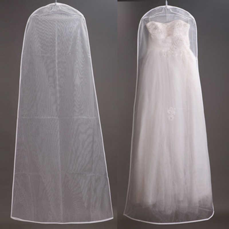 Пыленепроницаемый Чехол на платье невесты свадебное платье сумка для хранения дышащая прозрачная одежда Пыленепроницаемый Чехол