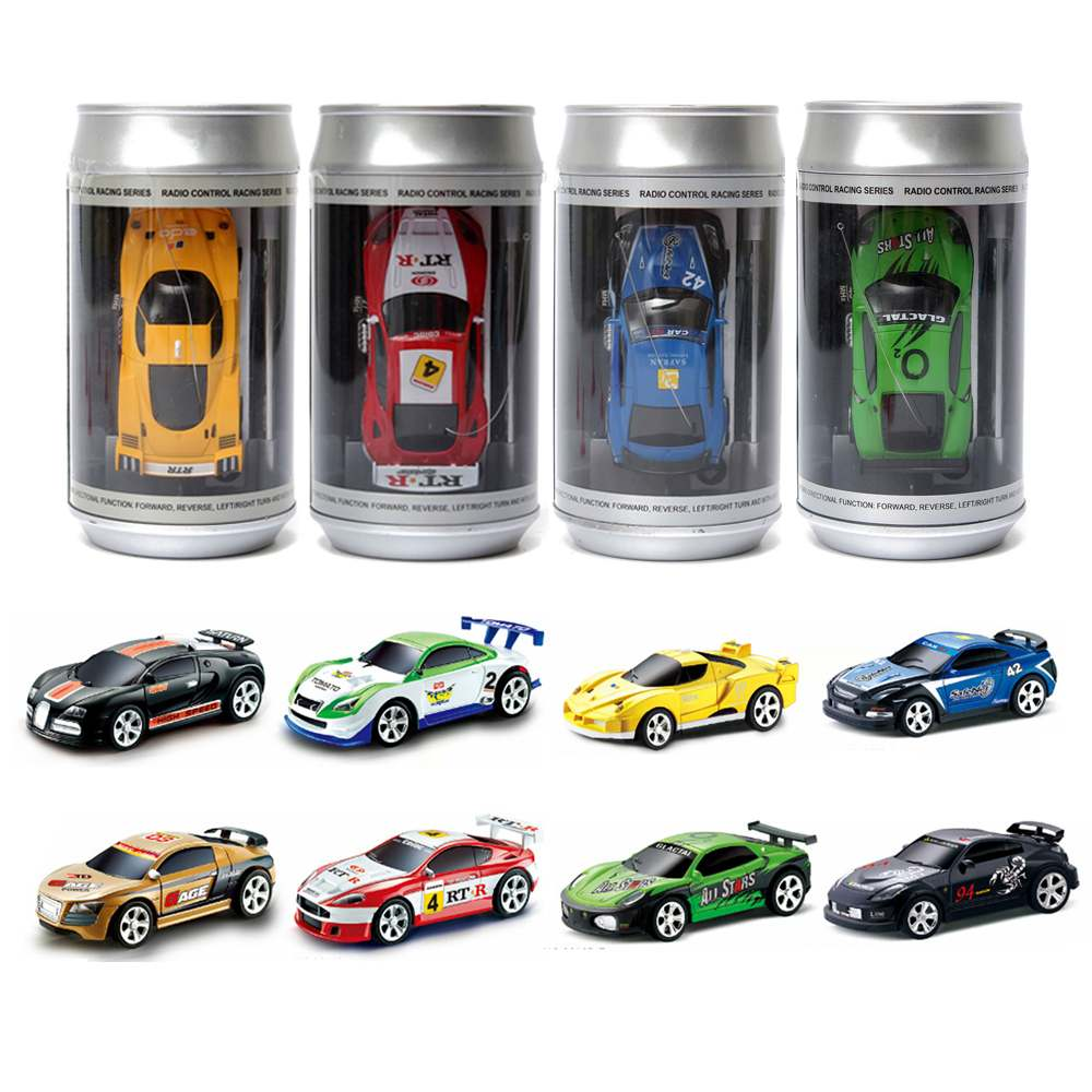 Hot Sales Mini 27/40MHZ Coke Can Remote Radio Control Micro Racing 4 Frequencies Toy RC Car For Kids Gifts Boys Toys