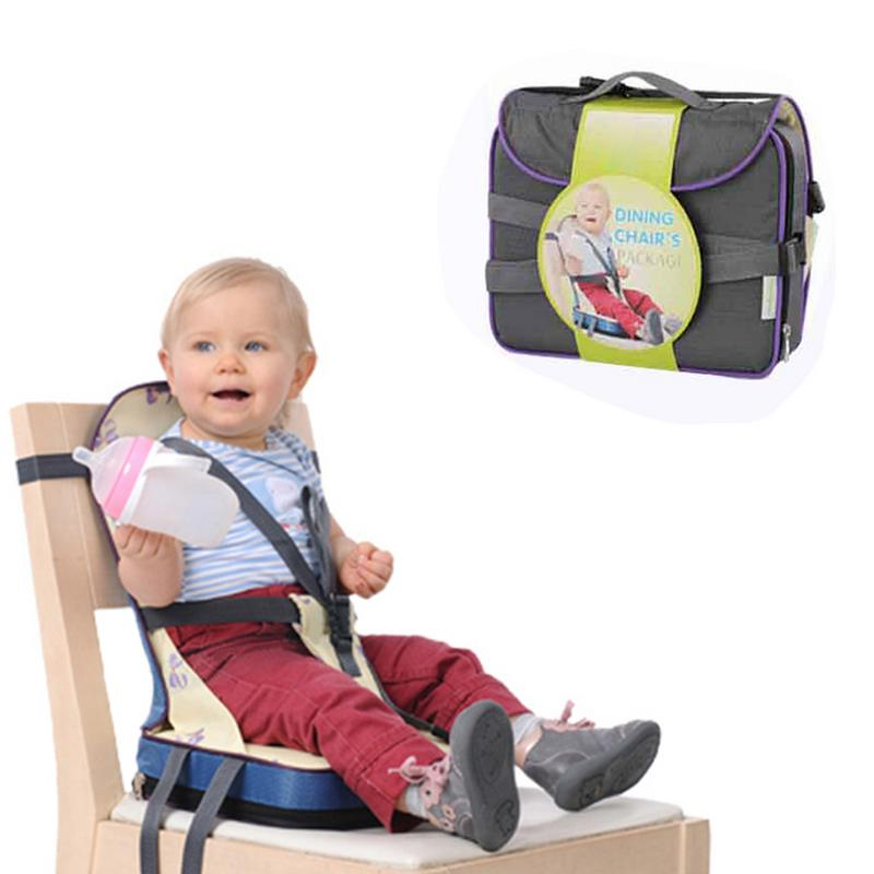 Baby Dining Chair Bag Child Portable Seat Toddler Water Proof Fabric Infant Travel Foldable Baby Safety Belt Feeding High Chair