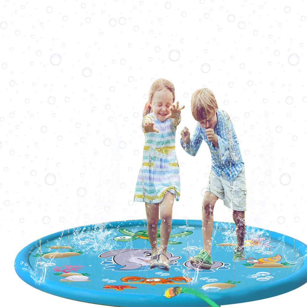 1PCS Cartoon Inflatable Lawn Water Spray Game Mat PVC Children Playing Water Toys Baby Play Mat For Children