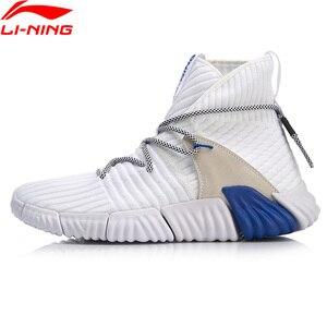 Image 3 - Li ning zapatillas de estilo de vida para hombre, de corte alto, Mono hilo de reajuste, forro Li Ning, zapatillas deportivas AGLN131 YXB237