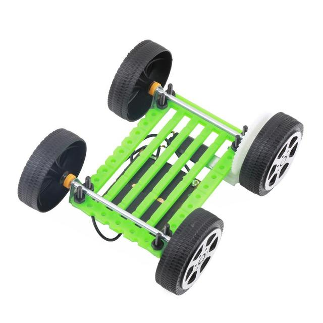 1Pcs Mini Solar Toy DIY Car Children Educational Puzzle IQ Gadget Hobby Robot UL 4