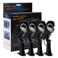 4 x Solar Power Fake Outdoor Dummy Camera Security Home CCTV Camera LED