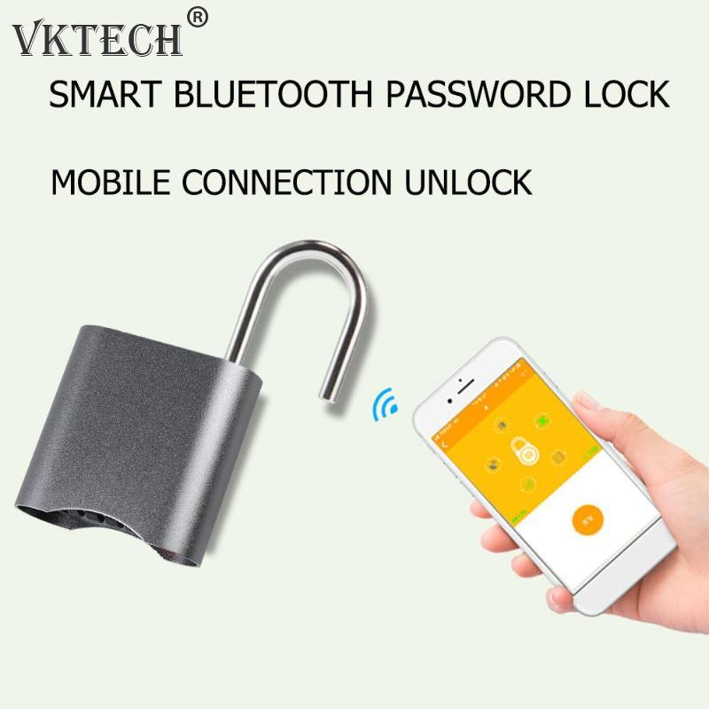 Mini serrure intelligente Bluetooth mot de passe téléphone APP cadenas Anti-vol serrure de porte étanche à la poussière serrure sans clé
