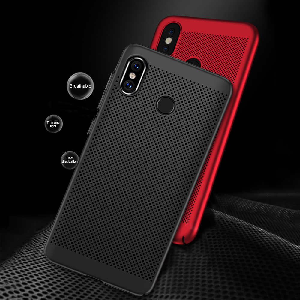 For Xiaomi Mi 9 8 Pocophone F1 Case Breathable Heat Dissipation Cooling Housing Back Cover For Redmi Note 7 6 5 Pro 4 4X 5A 6A