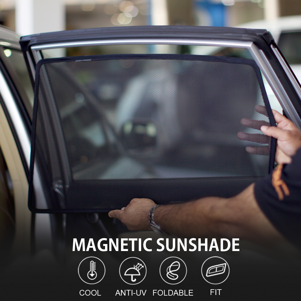 4pcs MAGNETIC CAR WINDOW SUN SHADE BLIND MESH SIDE DOOR FOR Volkswagen POLO BORA GOLF7 SPORTS WAN   GRAN LAVIDA LAVIDA LAMANDO