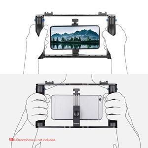 Image 5 - Andoer Professionale Dual Palmare Smartphone Fotografiche Supporto Della Staffa Cage Rig Fai da Te Del Telefono Video Stabilizzatore con Il Telefono Morsetto