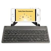 Foldable Bluetooth Keyboard, Ultra Slim Portable Wireless Keyboard with Pocket Size Ergonomic Design Built in Rechargeable Li