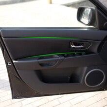 4 pièces voiture style intérieur microfibre cuir porte panneau couverture autocollant garniture pour Mazda 3 2004 2005 2006 2007 2008 2009
