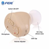 Hot best Rechargeable mini hearing aid ear sound amplifier hearing aids Tiny voice aid rechargeable hearing aid S 219 Fast Ship