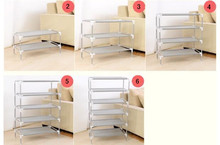 Hot sale stainless steel multi-functional storage shelf bedroom iron shoe cabinet multi-layer non-woven fabric simple rack