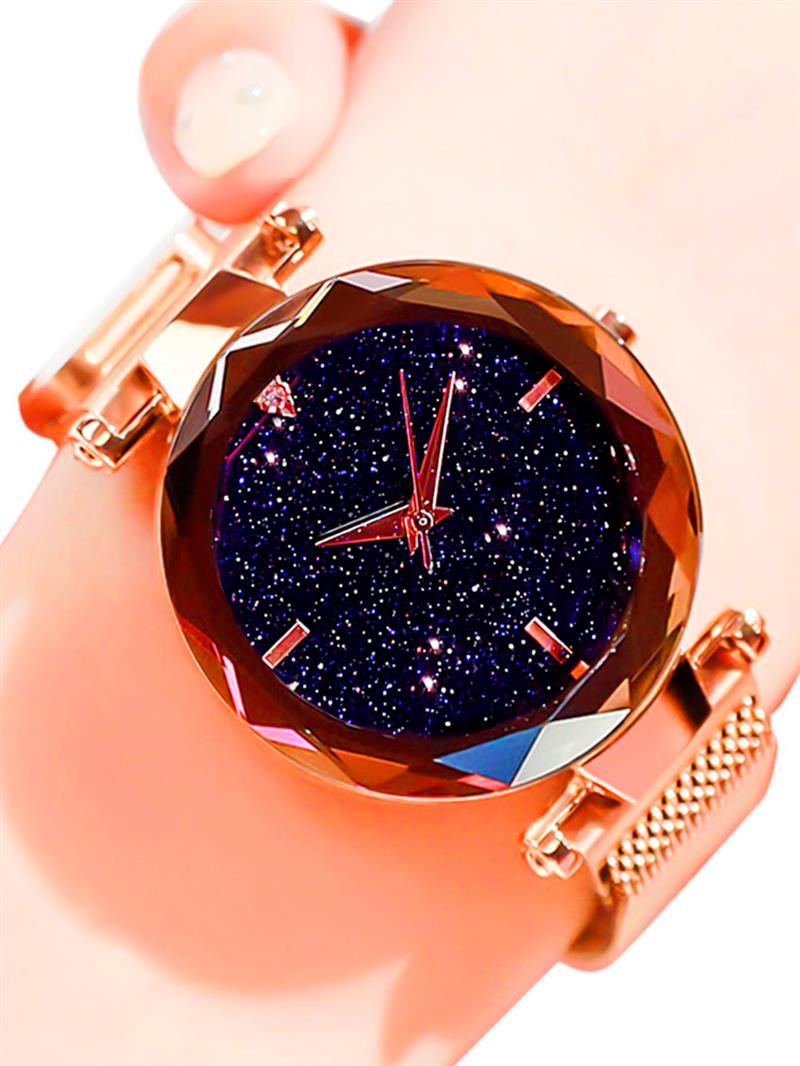 Luxury Fashion Ladies Watches Rose Gold Women Watches Elegant Minimalism Rhinestone Casual Black Female Waterproof Clock