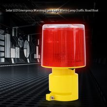 1pc 2.5W 3V Solar LED Emergency Warning Flash Light Alarm Lamp Traffic Road Boat Red Light 2019 New(China)
