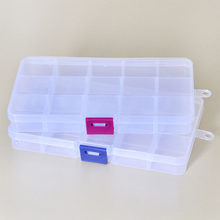 Makeup Organizer Storage Case Multifunction Plastic Pills Container 8/15 Grids Detachable Jewelry Boxes Desktop Storage Box(China)