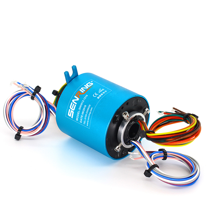 Powerful Slip ring With an ID of 0.5 (12.7mm) 10A Current Power SNH012-1210 for Robotics Industrial Cable ReelsPowerful Slip ring With an ID of 0.5 (12.7mm) 10A Current Power SNH012-1210 for Robotics Industrial Cable Reels