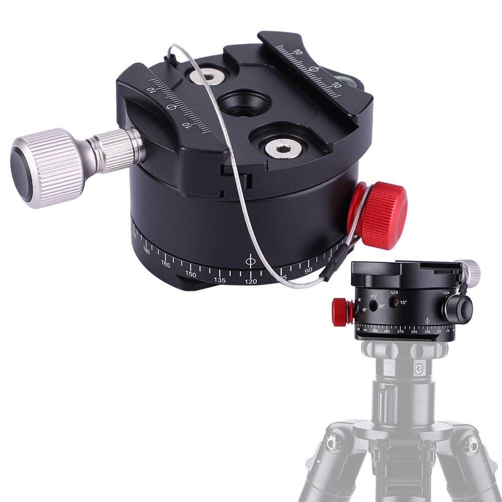Getrouw Hoge Kwaliteit Dh-60 360 Graden Panoramisch 4 Stopt Klik Indexering Rotator Balhoofd Voor Canon Nikon Sony Dslr Camera Statief Hoofd