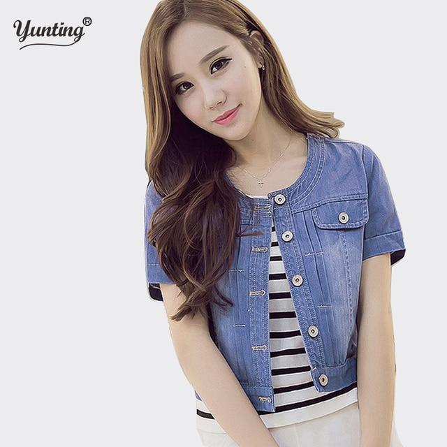 e9e47931a7ca6 2019 New Spring Summer Short Denim Jackets Vintage Casual Coat Women Denim  Jacket Women Outwear new fashion Plus size 3XL