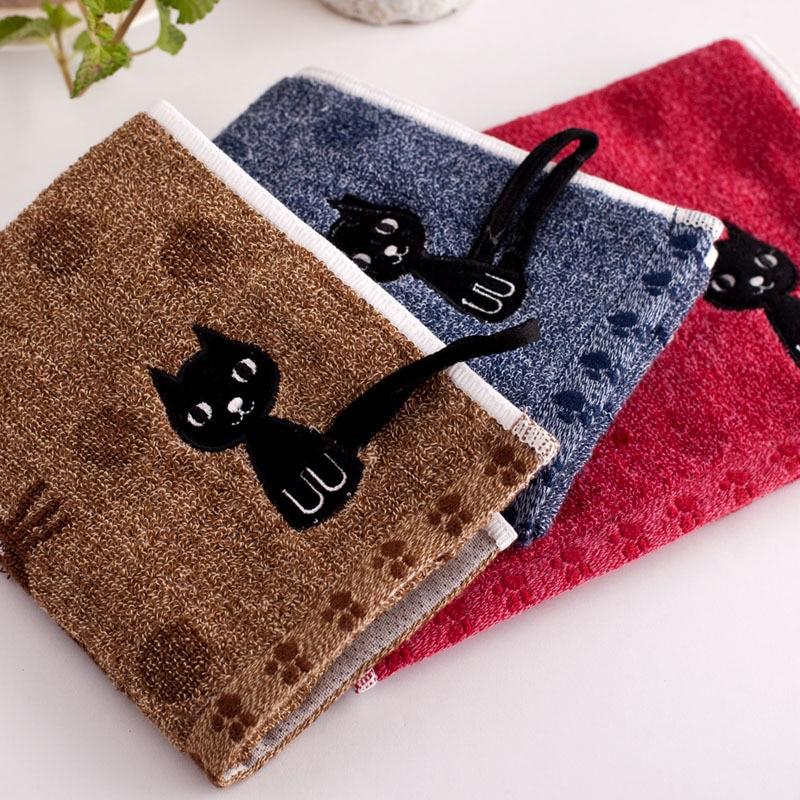 Cute Cat Printed Towels 1