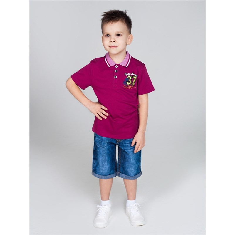 Shorts Sweet Berry Boys denim shorts children clothing kid clothes cuffed hem ripped denim shorts