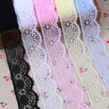 Довольно хорошее качество нейлон/хлопок лента африканская кружевная ткань 40 мм шириной 10 ярдов/партия Diy Аксессуары Одежда для дома деко