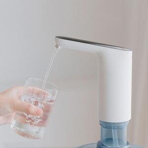 Image 5 - المحمولة مضخة مياه صغيرة تعمل باللمس نوع لاسلكي قابلة للشحن موزع كهربائي ABS البلاستيك قذيفة مضخة مياه الشرب مع USB