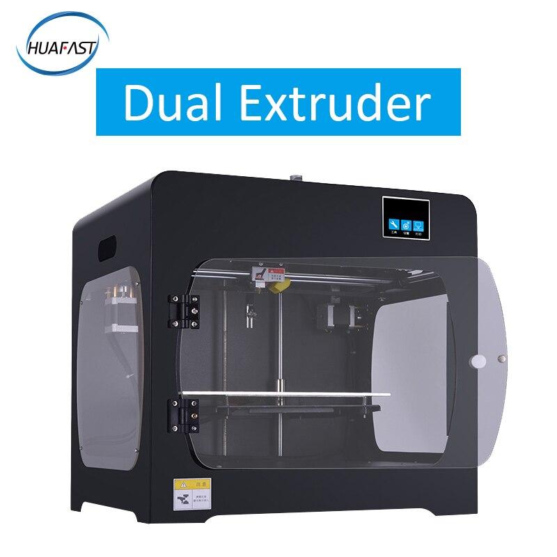 HUAFAST HS-322 3D Impressora Extrusoras Dupla Bicos Duplos Grande Área De Construção de Estrutura Metálica Falha de Poder Retomar MK10 Expulse Prusa