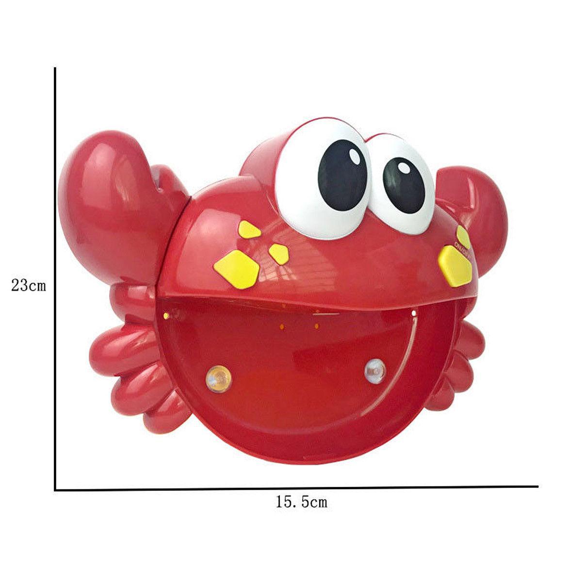 Cute Crab Bubble Machine Musical Bubble Maker Bath Baby Kid Toy Shower Fun Toy