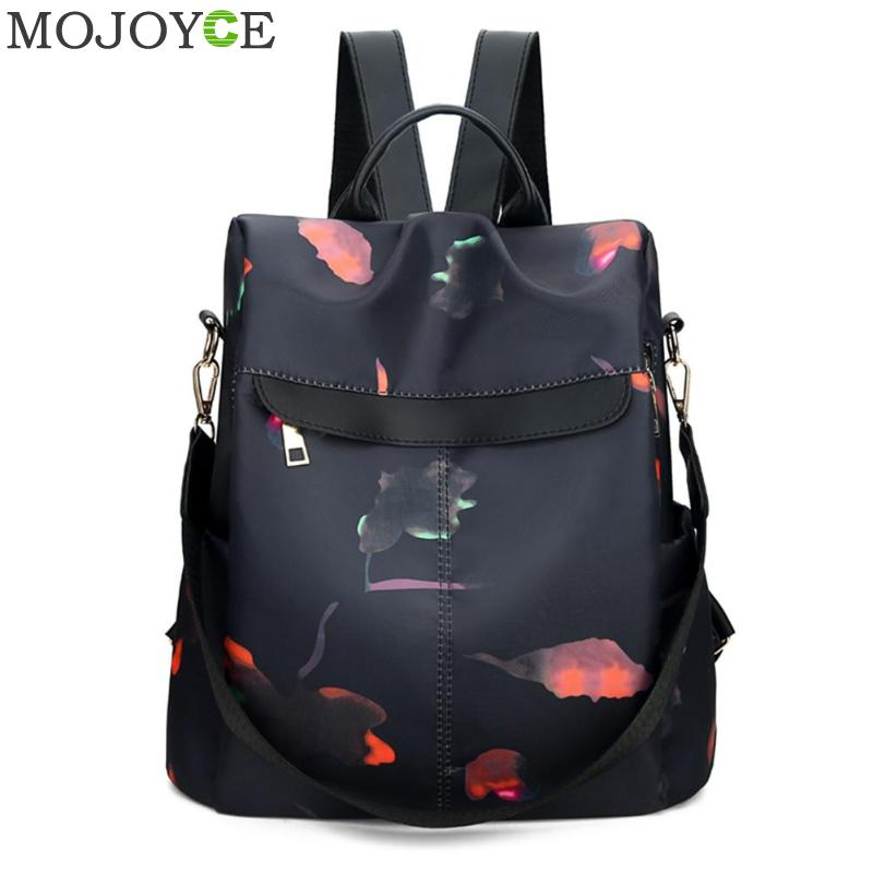 Luxury Brand Women Backpack Bags Black Nylon Anti-theft High Quality Travel Backpack For Young Lady College Style Female Bag