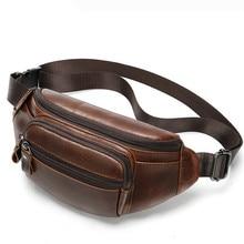 Men's Designer Phone Pouch Leather Waist Bag Men's Fanny Pack Genuine Leather Waist Bag Belt Summer Messenger Chest Bags
