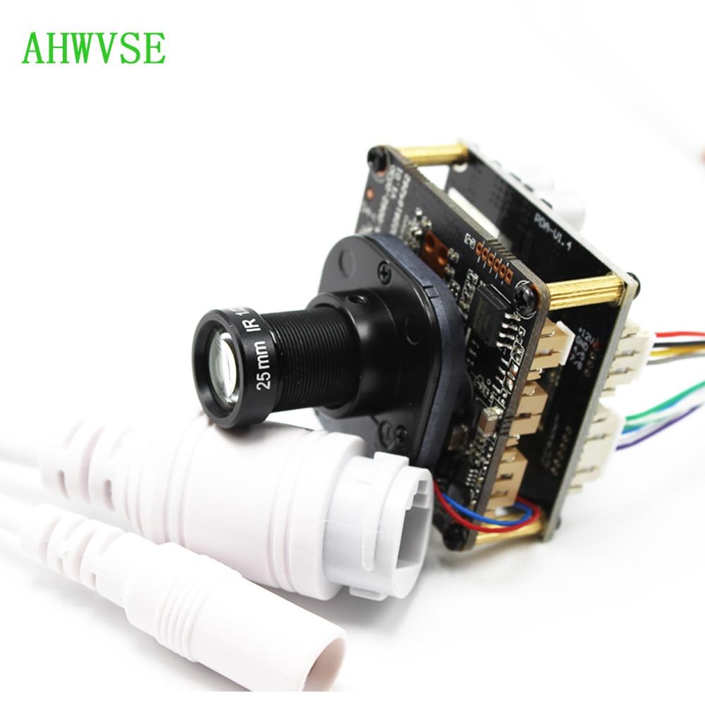 Caméra IP XMeye POE avec objectif 3mp 25mm carte de module de caméra IP CCTV POE PCB 720 P 1080 P ONVIF H264 IRCUT ONVIF Mobile