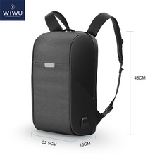 WIWU מחשב נייד תרמיל 15.6 15.4 אינץ רב פונקצית USB טעינה סיבתי תרמילי עמיד למים גדול קיבולת נשים