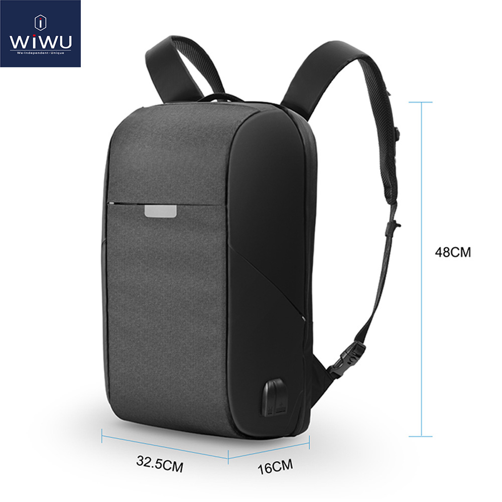 WIWU Laptop Backpack 15.6 15.4 inch Multi-function USB Charging Causal Waterproof Backpacks Large Capacity Laptop Backpack WomenWIWU Laptop Backpack 15.6 15.4 inch Multi-function USB Charging Causal Waterproof Backpacks Large Capacity Laptop Backpack Women