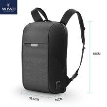 WIWU dizüstü sırt çantası 15.6 15.4 inç çok fonksiyonlu USB şarj nedensel su geçirmez sırt çantaları büyük kapasiteli Laptop sırt çantası kadın