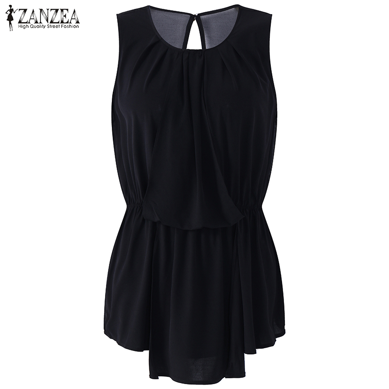 Women Summer Style Dresses Sexy Sleeveless O Neck Backless Midi Party Tank Dress Zanzea Casual Solid Black Short Bodycon Dress