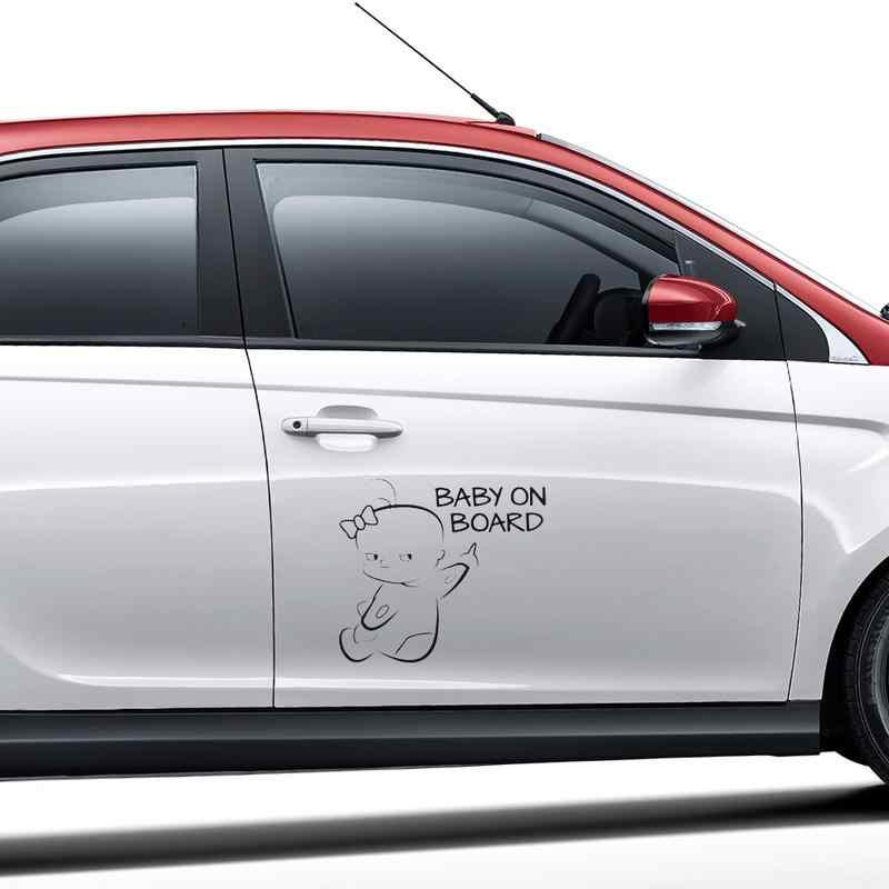 Etiqueta engomada de advertencia para coche de bebé en 3D diseño de calcomanías de dos tonos para coche accesorios