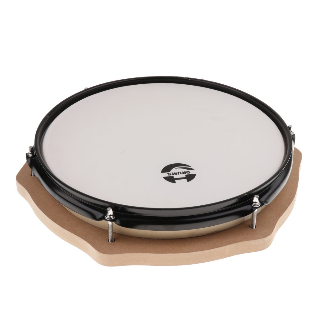 12 Inch Mute Drum Percussion Musical Instrument Practice Tool Early Learning Educational Toys for Children Toddler Kids - 3