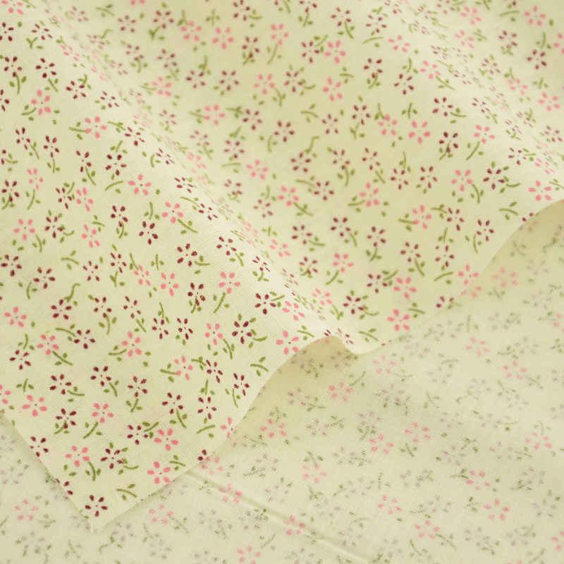 미터 직물 100% 코 튼 원단 홈 섬유 보라색과 핑크 꽃 디자인 tecido 인형 봉 제 패치 워크 의류 새로운 도착