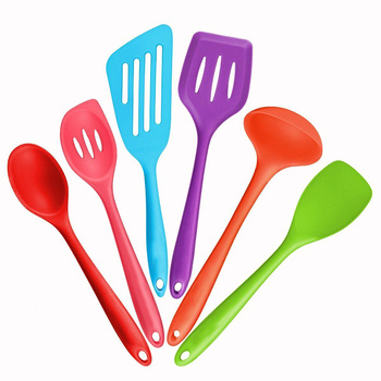 Kitchen Silicone Non-stick Cooking Spoon Spatula Ladle Egg Beaters Utensils Dinnerware Set Cooking Tools Accessories Supplies 4