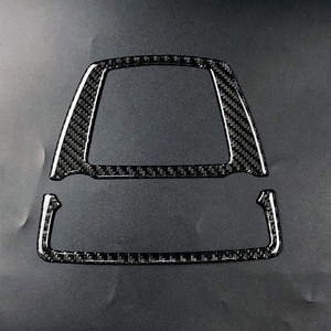 Image 3 - Voor Bmw 5 Serie Gt F07 F10 X3 X4 F25 F26 Auto Interieur Koolstofvezel Front Reading Light Frame Cover