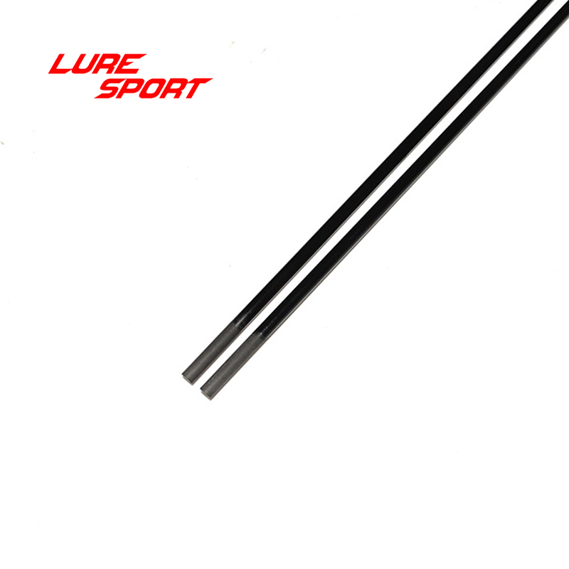 LureSport 2pcs 1.5m UL soft Solid carbon rod blank Black paint fishing Rod building components blank  Repair DIY Accessory