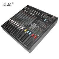 ELM Professional Audio DJ Mixing Console 8 Channels DJ Audio Karaoke Sound Mixer WIth USB DSP Digital Effects Processors