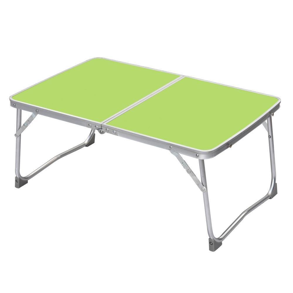 Portable Folding Picnic Table/Desk Bed Tray/Stand for Laptop Notebook Computer (Green Folding Table)