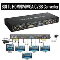 3G SDI to ALL Scaler Converter Loop Out allows SDI To DVI VGA HDMI CVBS Composite port display Analog Audio Extractor Extender