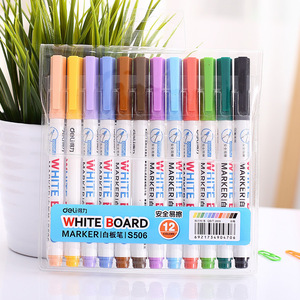12 Colors High Quality Erasable Whiteboard Sharpie Marker Pen Paint Marker Drawing Stationery Supply Plumones Caneta 04417