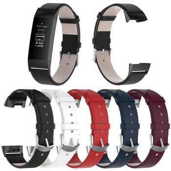 5 Colors Leather Wrist Strap Watch Band With Stainless Frame For Fitbit Charge 3 Fitbit Charge3 Smart Bracelet Smart Accessories