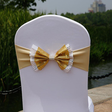 1 шт Свадебная накладка на стул бант из органзы узел украшения ленты для стульев ремень для стула Галстуки для свадьбы Вечерние банкеты Декор