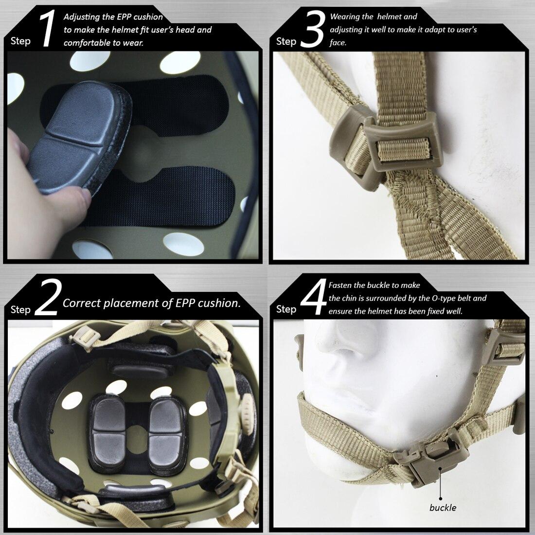 WST casque à trou rond rapide pour Nerf ou pour Airsoft accessoires de Paintball de sport - 6