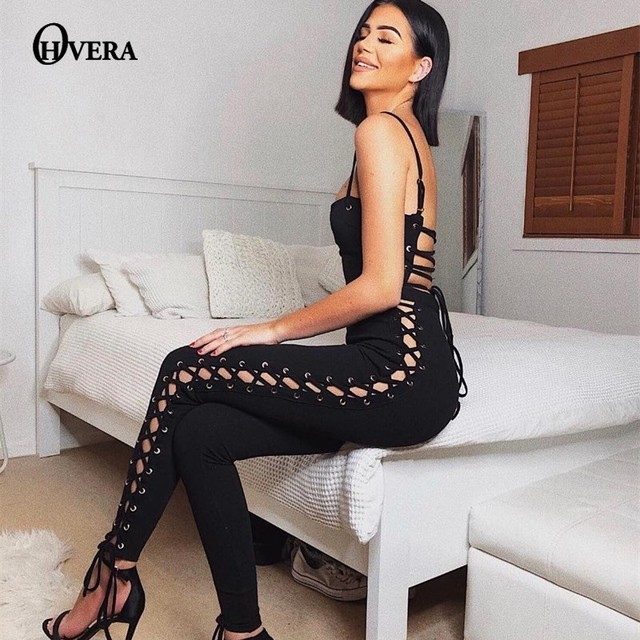 a4d85cd4 Ohvera Long Bodycon Bandage Jumpsuits For Women 2019 Summer Rompers Womens  Jumpsuit Elegant Sexy Overalls