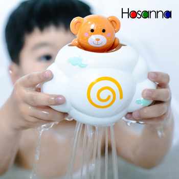 Cute Baby Bath Toys Rain Cloud Plastic Water Game Shower Squirt Float Animal Educational Summer Toys for Kids 1-3 Years Elephant image