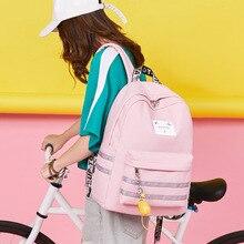 Schoolgirl collage shoulder bag Korean Campus Style Trends waterproof Backpack Solid Color Leisure